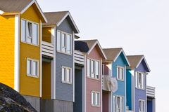 kolorowi domy Obraz Royalty Free