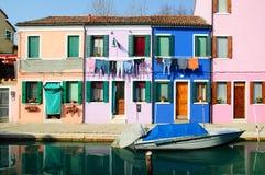 kolorowi domy Fotografia Stock