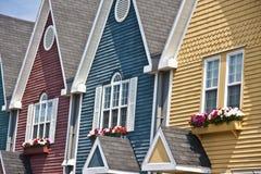 Kolorowi Domy Zdjęcia Stock