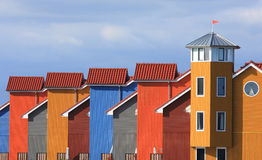 Kolorowi domy Obrazy Stock