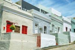 Kolorowi domy Bo Kaap Zdjęcie Royalty Free