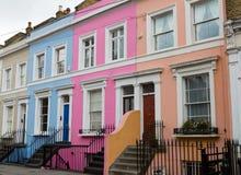 Kolorowi domy daleko Portobello droga Zdjęcie Royalty Free
