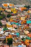 Kolorowi domy Guanajuato Fotografia Royalty Free