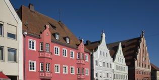 Kolorowi domy w Donauworth, Niemcy zdjęcie royalty free