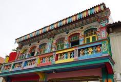 Kolorowi domy w Małym India, Singapur Fotografia Royalty Free