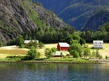 Kolorowi domy w Norwegia Zdjęcie Stock