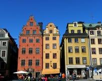 Kolorowi domy w Sztokholm Fotografia Stock