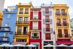 Kolorowi domy w Walencja, Hiszpania zdjęcie stock