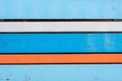 Kolorowi drewniani biurka Obrazy Royalty Free