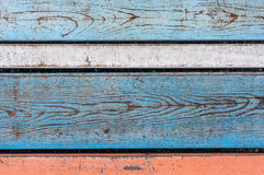 Kolorowi drewniani biurka Fotografia Stock