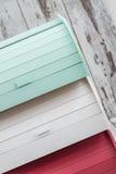 Kolorowi Drewniani chlebów pudełka dla Chlebowy Utrzymywać Obrazy Royalty Free
