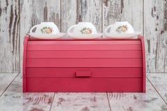 Kolorowi Drewniani chlebów pudełka dla Chlebowy Utrzymywać Fotografia Stock