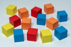 Kolorowi drewniani dziecko elementy zdjęcie stock