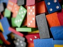 Kolorowi Drewniani Zabawkarscy domina Gemowi Zdjęcia Royalty Free
