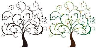 kolorowi drzewa Zdjęcie Stock