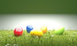 Kolorowi Easter jajka w gazonu 3D ilustracji ilustracja wektor