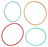 Kolorowi elastyczni gumowi zespoły odizolowywający na białym tle Obraz Royalty Free