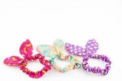Kolorowi elastyczni zespoły dla włosy obraz royalty free
