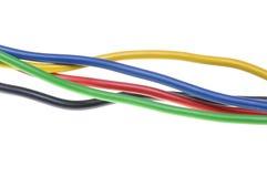 Kolorowi elektryczni druty Obrazy Royalty Free