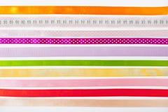 Kolorowi faborki horyzontalni na białym tle Zdjęcie Stock