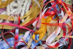 Kolorowi faborki, rama Zdjęcie Royalty Free