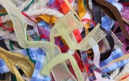 Kolorowi faborki tworzy tło Fotografia Royalty Free