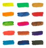 Kolorowi farb brushstrokes Zdjęcia Stock