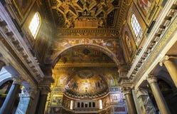 Kolorowi fresk Santa Maria w Trastevere Obraz Royalty Free