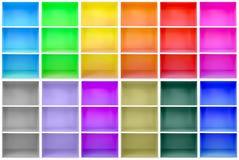 Kolorowi gabinety Fotografia Royalty Free