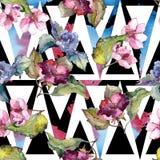 Kolorowi gardenia kwiaty Kwiecisty botaniczny kwiat Bezszwowy tło wzór royalty ilustracja