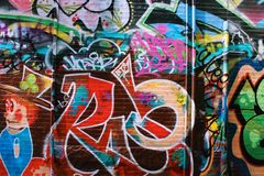 Kolorowi graffiti w Boston Obraz Royalty Free