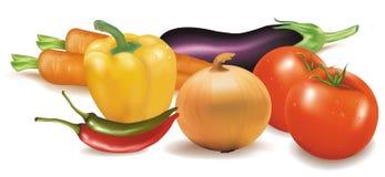 kolorowi grupowi warzywa Fotografia Stock