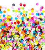 Kolorowi guziki, Kolorowy Clasper na białym tle Obrazy Stock