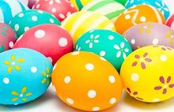 Kolorowi handmade dekorujący Easter jajka Obrazy Royalty Free