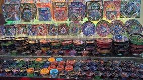 Kolorowi handmade talerze Arabia obrazy stock