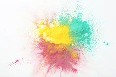 Kolorowi holi proszki fotografia royalty free