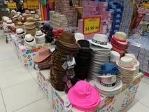 Kolorowi i różni wzorów kapelusze Obraz Stock