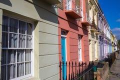 Kolorowi ikonowi domy Camden miasteczko - Londyn, Zjednoczone Królestwo Obrazy Stock
