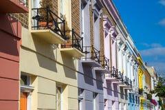 Kolorowi ikonowi domy Camden miasteczko - Londyn, Zjednoczone Królestwo Obraz Stock