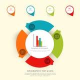 Kolorowi infographic elementy dla biznesu Fotografia Royalty Free