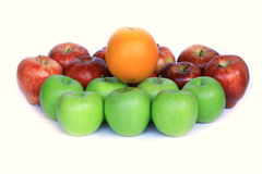 Kolorowi jabłka i pomarańcze Fotografia Royalty Free