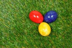 Kolorowi jajka Zdjęcia Royalty Free