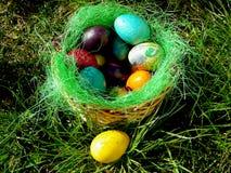 Kolorowi jajka dla wielkanocy! Zdjęcia Royalty Free