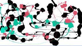 Kolorowi jaskrawi atramentów pluśnięcia na białym tle Royalty Ilustracja