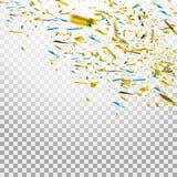 Kolorowi jaskrawi confetti odizolowywający na przejrzystym tle świąteczna ilustracja Fotografia Stock