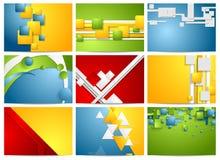 Kolorowi jaskrawi technologii tła ustawiający Obraz Stock