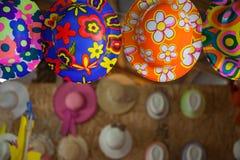 Kolorowi kapelusze Obrazy Royalty Free