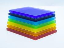 Kolorowi kawałki plexiglass Zdjęcie Stock