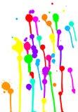 Kolorowi kleksy na Białym tle Obraz Royalty Free
