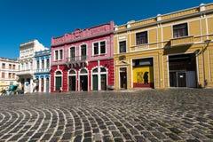 Kolorowi Kolonialni domy Curitiba Fotografia Stock